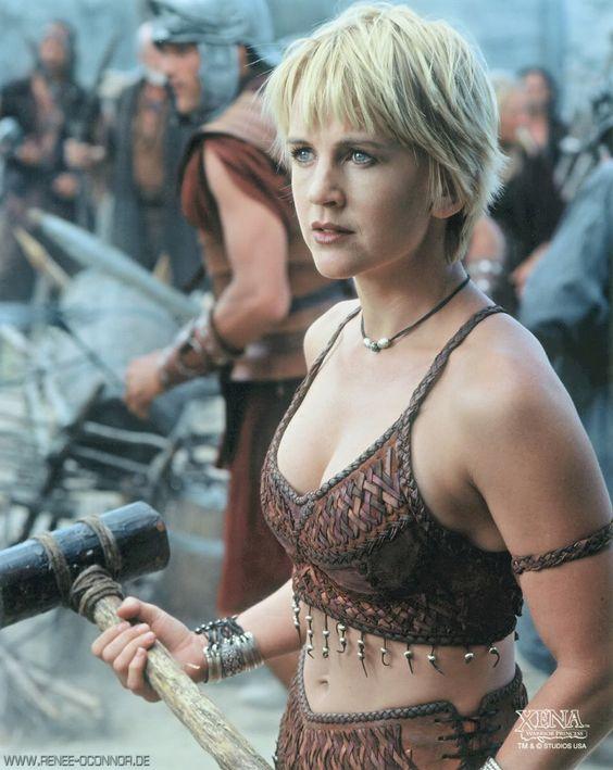 Gabrielle on Xena Warrior Princess. Another cute short haircut. I'm seeing a theme...