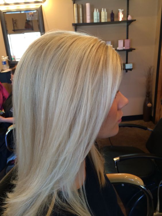 Blonde hair. Light blonde with dimension