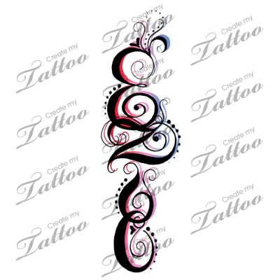 marketplace tattoo tribal name 16921 vine tattoo designs pinterest. Black Bedroom Furniture Sets. Home Design Ideas