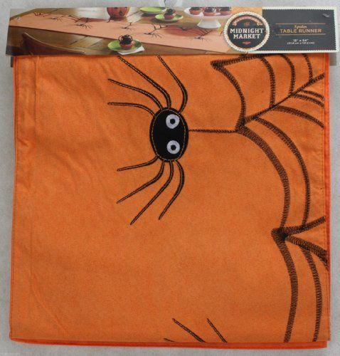 Midnight Market Halloween Table Runner - Spiders, http://www.amazon.com/dp/B00IT1RKUK/ref=cm_sw_r_pi_awdm_Xsv-vb0CQ8WY3