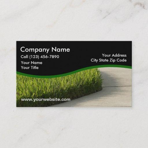 Lawn Care Services Design Business Card Zazzle Com Lawn Care