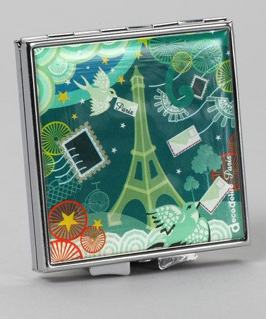 Take a look at this Blue Paris Compact Mirror by Décodélire