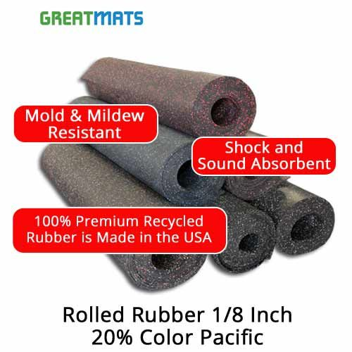 Rolled Rubber 1 8 Inch 20 High Quality Roll Rolled Rubber Flooring Rubber Flooring Durable Flooring