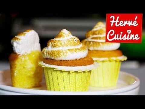 Cupcakes citron meringué avec Hervé Cuisine et AllyFantaisies - YouTube