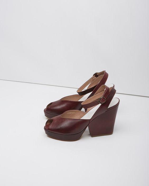 Maison Martin Margiela Line 22 / Ankle-Strap Peep Toe Wedge #pf14