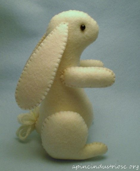simple and sweet bunny.  Site is in Italian but Chrome translates it.  Free pattern available.