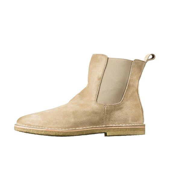 Boots élastiquées fourrées - Camel - A.P.C. HOMME