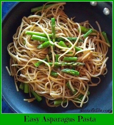 Quick and easy Asparagus Pasta. http://santofitlife.com/recipes/healthy-savory/easy-asparagus-pasta/