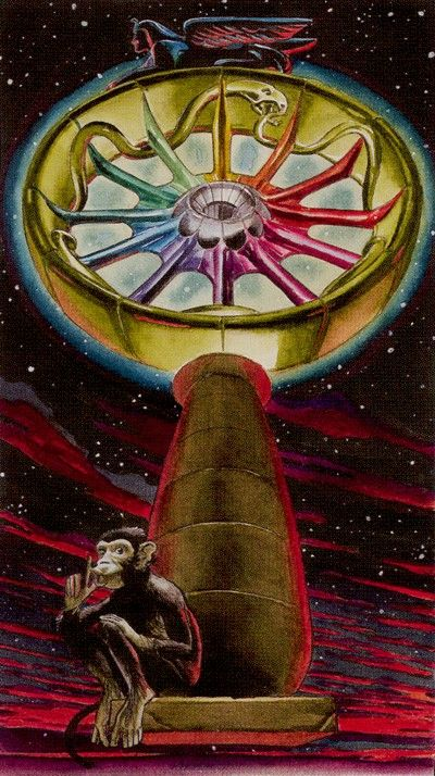 Initiatory Tarot of the Golden Dawn, Wheel of Fortune - - If you love tarot, visit me at www.WhiteRabbitTarot.com