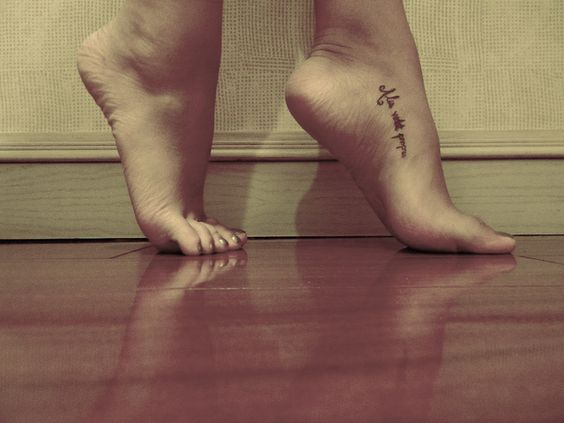 foot tattoo- placement