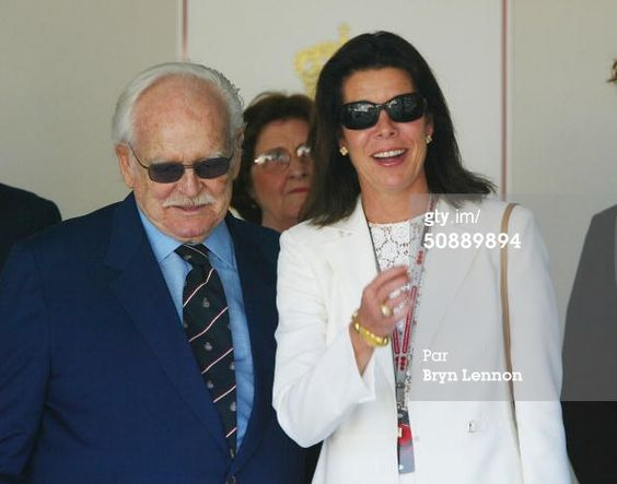 Photo d'actualité : Princess Caroline of Monaco and Prince Rainier...
