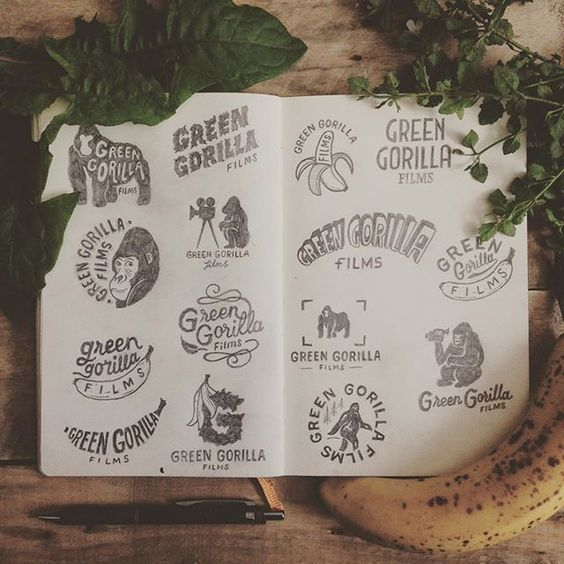 There's all kinds of monkey business going on at Pez & Pencil Studio at the minute. Here's some of the logo ideas I presented to Green Gorilla Films this week. This shit is quite literally bananas. #type #typography #letters #lettering #handtype #handdrawn #handmadefont #handdrawntype #handlettering #art #branding #creative #calligraphy #calligritype #design #drawing #goodtype #graphicdesign #illustration #logo #logotype #pencil #sketch #sketchbook #typedaily #monkey #doodle #craft…