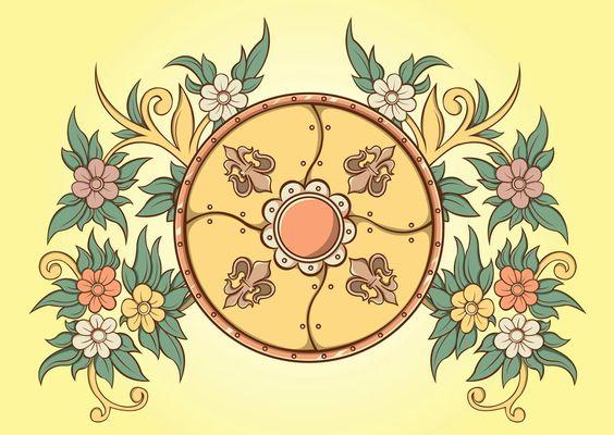 Антиквариат,оформление,Цветочные,Цветок векторов,цветы,Кинг,Рыцарь,Средневековый,Старый,Королевский,щит,Векторный пакет,Вино урожая