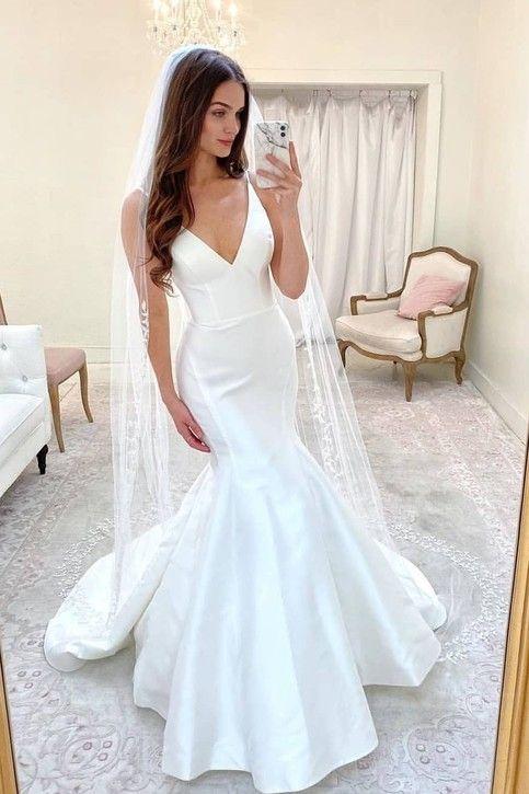39++ Satin mermaid wedding dress information