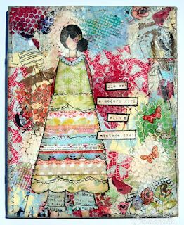 She Art Line - Mixed Media Canvas: Vintage Soul, Paper Craft, Pages Cards Canvas, Art Inspiration, Altered Art, Art Journaling