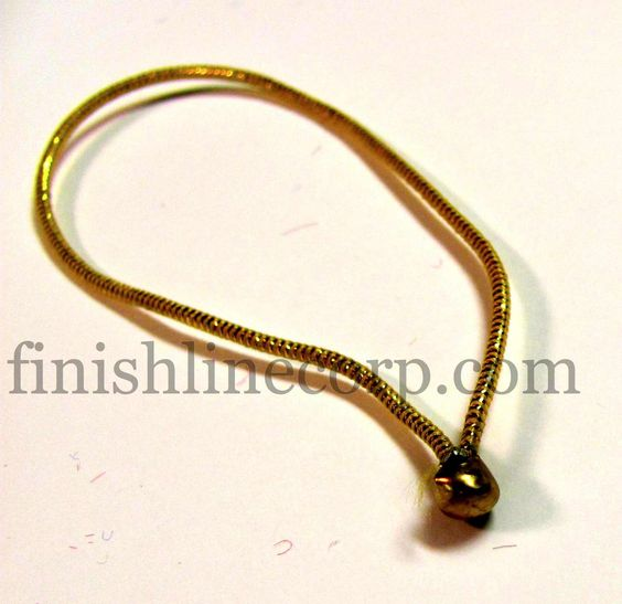 Metallic gold elastic loop with ball for decorative for Loop binden