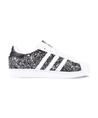 adidas black glitter
