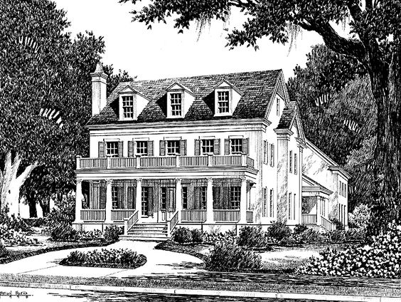 Eplans Plantation House Plan Colonial Lake Cottage From