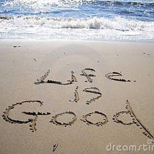 Life is good...I should do this today since I'm in Florida! Have hay hay running to the waves with this saying!!!