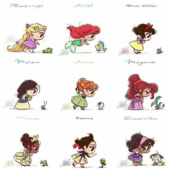 This Pin Shows You Disney Princesses Name And Their Animal Friends