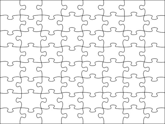 Image Detail For Blank Jigsaw Puzzle Template Free Printable
