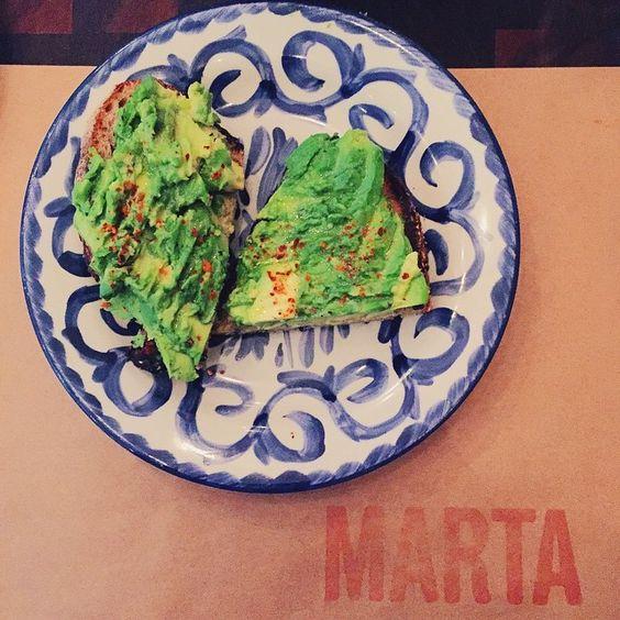 Avocado Toast at Marta in NYC