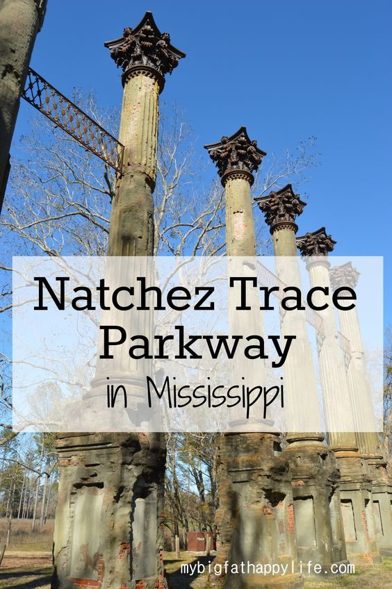 Natchez Trace Parkway in Mississippi; first 30 miles from Natchez including Windsor Ruins, Emerald Mound and Mount Locust | mybigfathappylife.com: