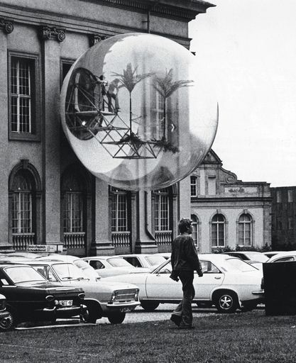 Installation view of Hans-Rucker-Co's Oasis 7 at Documenta 5, Kassel, 1972