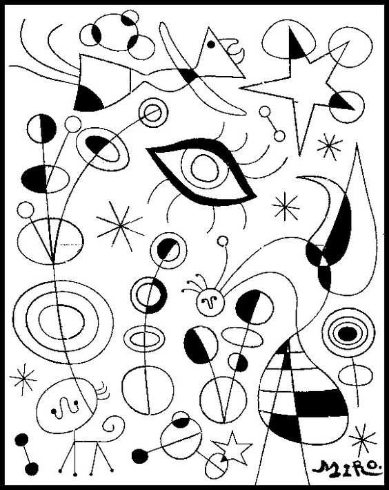 Joan Miro coloriage