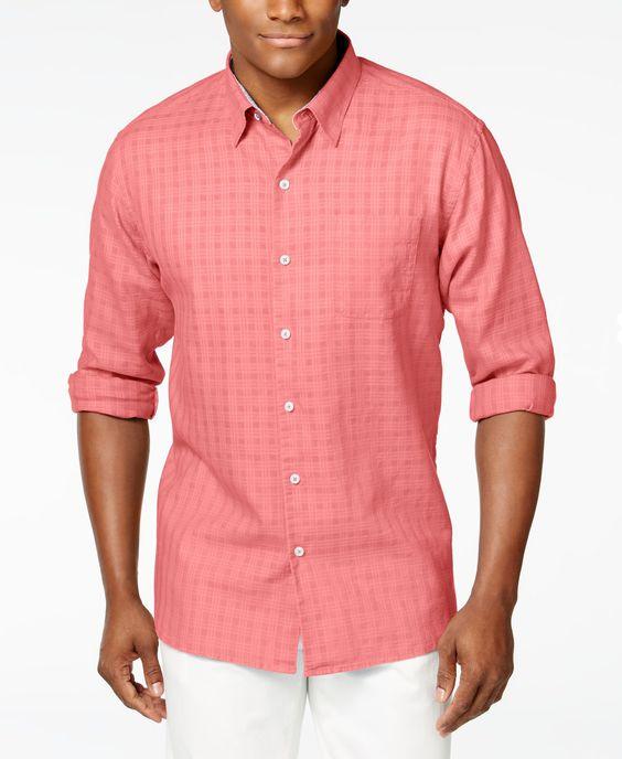 Tommy Bahama's Sydney Squares Long SleeveShirt