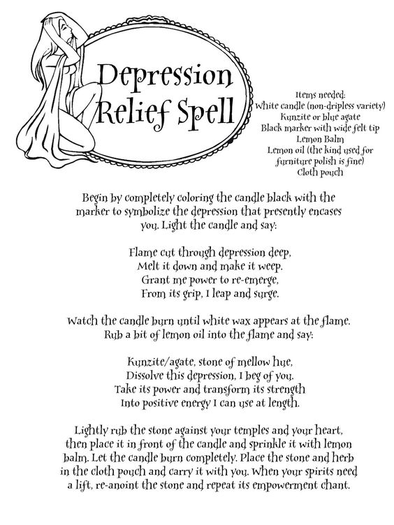 "Depression Relief Spell - ""Magick is desire made real"" - Pinned by The Mystic's Emporium on Etsy:"