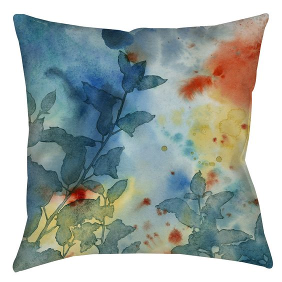 Color Play 1 Indoor/Outdoor Throw Pillow