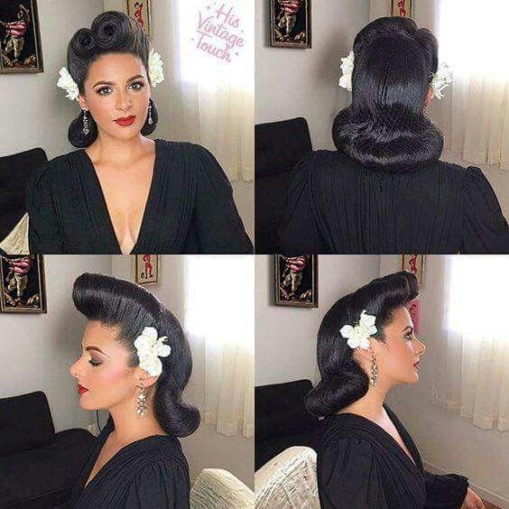 Die Rockabilly Frisur Durch Den Blick Der Modernen Frau Retro Frisuren Rockabilly Frisur Frisuren