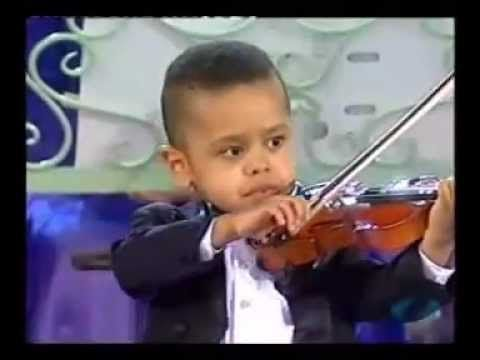 Andre Rieu & 3 year old violinist  Akim Camara 2005