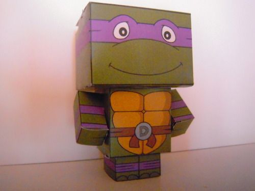 box ideas for crafts donatello from mutant turtle cubeecraft 3468