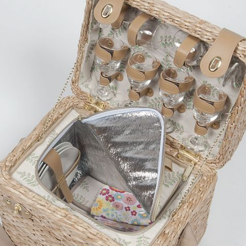 Bulrush Picnic Basket for 6 from WorldStores: Everything For The Home