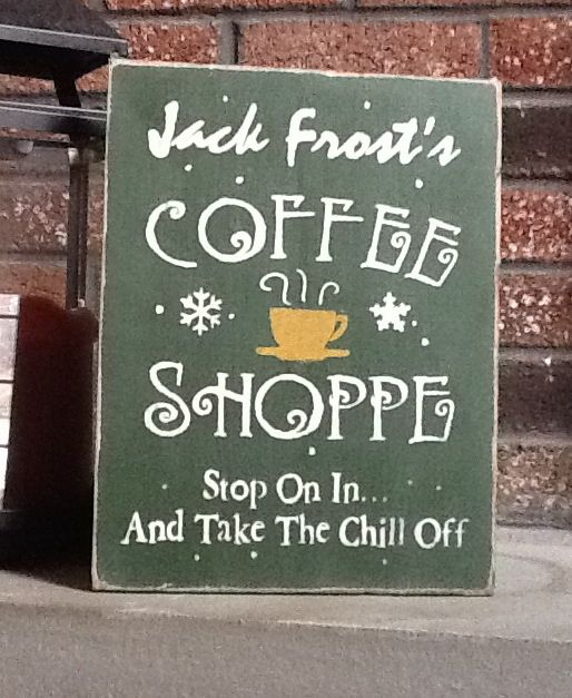 Christmas Sign - Jack Frost Shoppe- Wooden Holiday