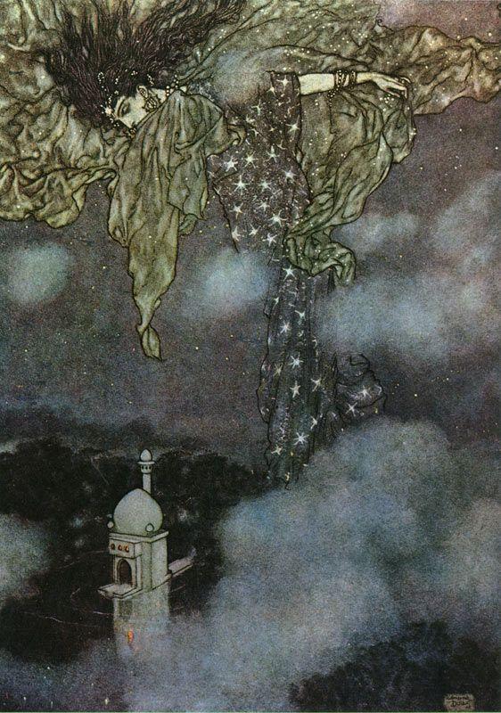 Night, The Rubaiyat of Omar Khayyam - illustration by Edmund Dulac.