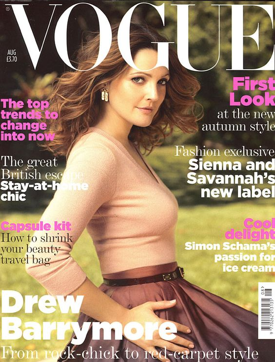 August 2007 Drew Barrymore wears a cashmere sweater, from £500. Silk-radzimir ballerina skirt, from £1,190. Crocodile skin belt, from a selection. All Louis Vuitton. Yellow gold and mother-of-pearl earrings, price on application, Bulgari. All make-up by Clinique. Hair: Ken O'Rourke. Make-up: Christian McCulloch. Nails: April Foreman. Set design: Shawn Patrick Anderson. Fashion editor: Miranda Almond. Photographed by Regan Cameron.