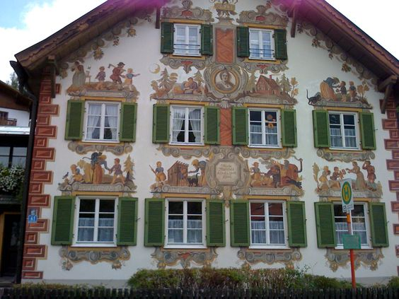 The Hansel and Gretel house, Oberamergau. I've been here on a tour, the Zugspits is really close. I would have liked to see the passion play but did not.
