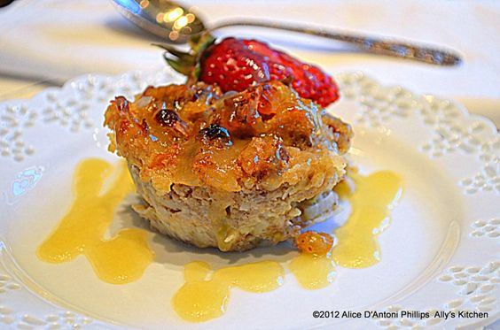 coconut strawberry bread pudding