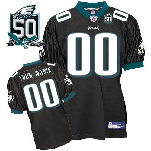 Eagles Personalized Authentic Black With 50TH Anniversary Patch ...