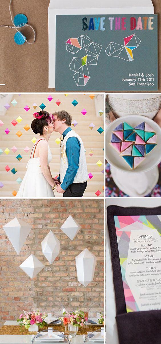 Fun Geometric-Inspired Wedding Ideas!