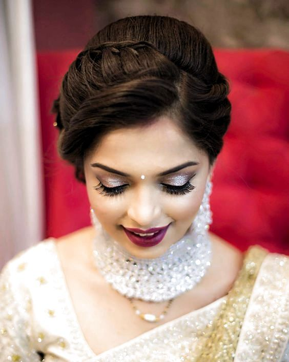 Bridal Hairstyles Indian Engagement Indian Hairstyles Indian Wedding Hairstyles Indian Bride
