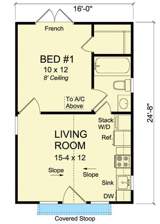 16x30 Tiny House 16X30H13 480 sq ft Excellent Floor Plans