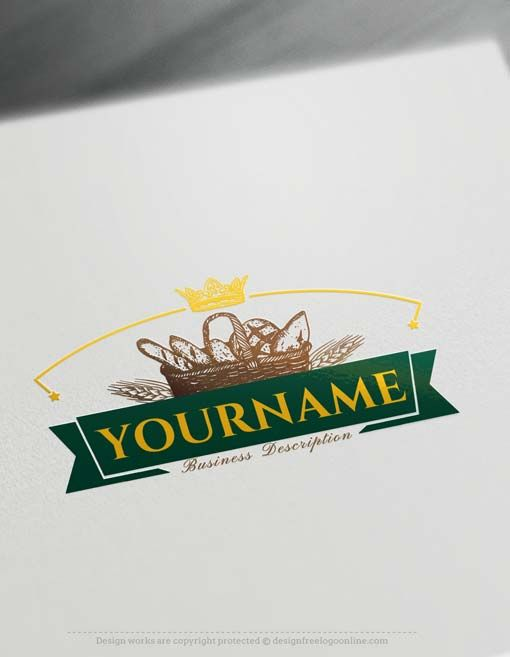 Create A Vintage Bakery Logo Design With Free Logo Maker Bakery Logo Bakery Logo Design Logo Design Free Templates