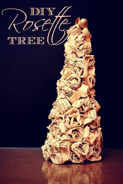 DIY Rosette Tree via eat.sleep.MAKE.
