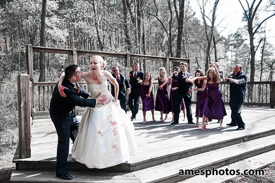 Zombie Wedding Party State College Wedding Photos Pinterest