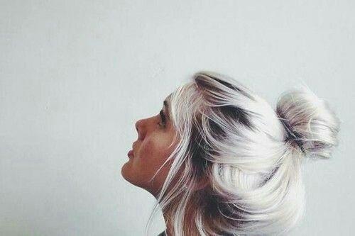 Silver hair - Reach this colour by toning platinum blonde hair with ash dye...: