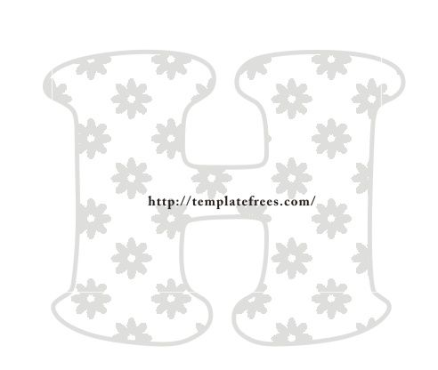 FREE PRINTABLE EXTRA LARGE LETTER STENCILS http://templatefrees ...